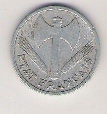 Moneda De 1 Fr. Del Estado Frances De Vichy