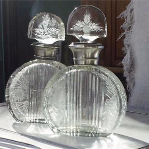Perfumeros De Cristal Y Plata 925