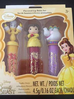 Set De Labiales Bella Y La Bestia Original Disney Store