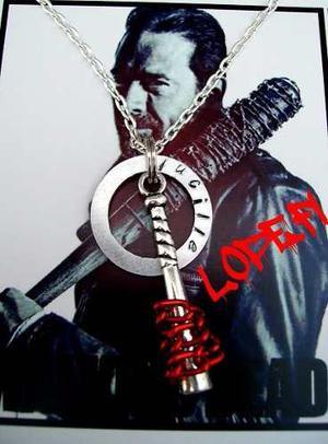 The Walking Dead Twd Collar Negan Dije Colgante Bate Lucille