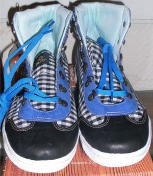 Zapatillas Balboa Verona Negra y Blanca. N° 43. Marca: Puro