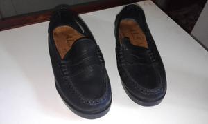 Zapatos (cuero) negro mocasines impecables casi nuevos