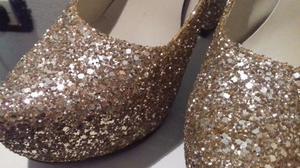 Zapatos de fiesta con brillos/glitter NUMERO 38