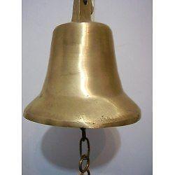 campana rustica de campo en bronce macizo