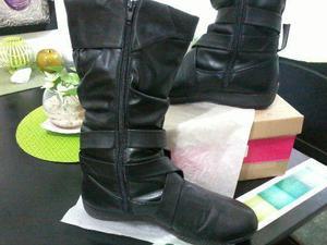 hermosas botas de caña alta negras