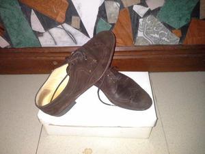 zapatos de gamuza nro 40 en muy buen estado poco uso