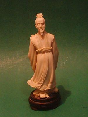 Antigua Figura Oriental En Marfilina