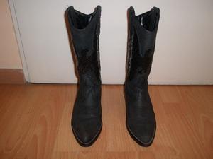 Botas texanas de mujer, color negro, talle 38, muy buen