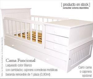 Cuna funcional con cama abajo