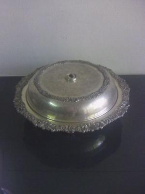 Fuente bandeja con tapa antigua