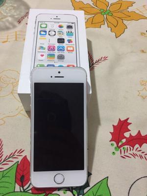 Iphone 5s silver 16gb en caja igual a nuevo