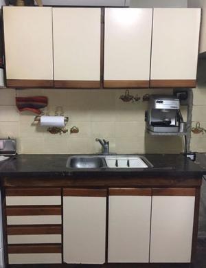 Combo Mueble Cocina Bajo Mesada Alacena Y Bacha Posot Class