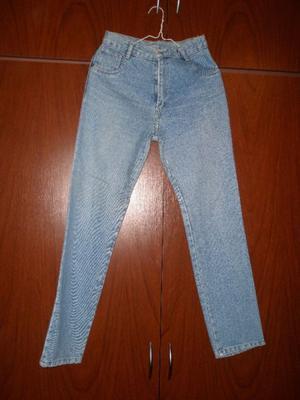 Pantalones de jean, gabardina y lanilla de mujer, talle 40