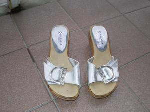Sandalias Plateadas Nazaria 37
