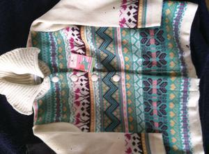 Saquito de lana nuevo sin uso con etiqueta