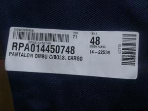 Vendo pantalon tipo cargo, OMBU, talle 48, original, azul