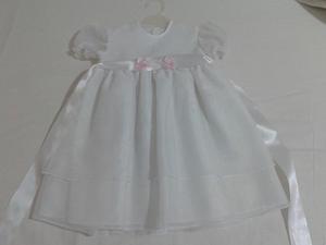 Vestido Baustismo Bello Talle 1 a 6 meses