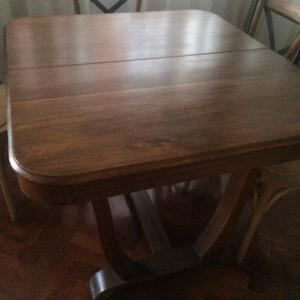mesa de roble con extension