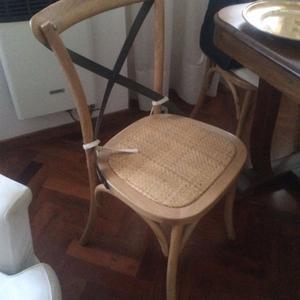 sillas de madera e hierro