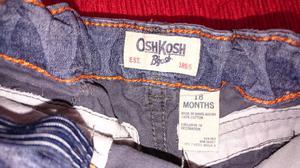 Bermuda bb talle 18 meses Osh Kosh gris.