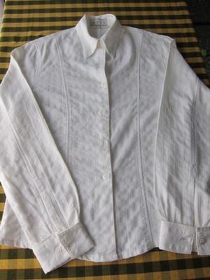 Camisa de algodón, elegante, tela labrada, para mujer,