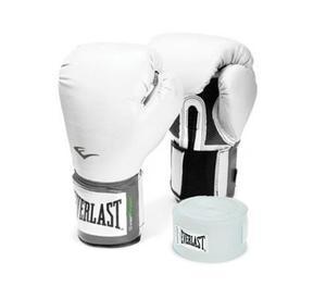 Combo Box Blanco Everlast:guantes Prostyle 12 Oz+venda 108