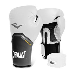 Combo Box Everlast Elite Blanco:guantes De 12 Oz+vendas 180