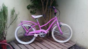 bicicleta de paseo rodado 20 rosa lista para usar