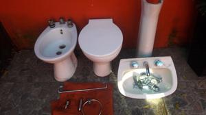 set de baño completo con griferia y accesorios