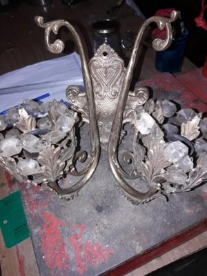 Candelabro antiguo de bronce