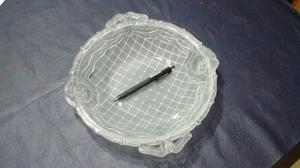 Fuente/frutera de vidrio antigua