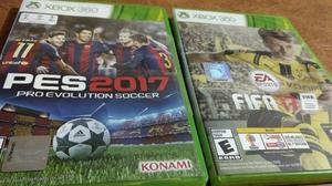 Pes  y Fifa  para Xbox 360 (Originales)
