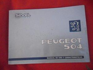 libro manual peugeot 504 naftero diesel 0riginal $500 tapa