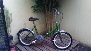 Bicicleta Plegable Retro Rodado 16 Facil Plegado Y Lista!