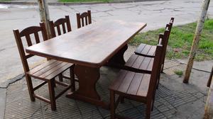 Juego de comedor mesa y 6 sillas