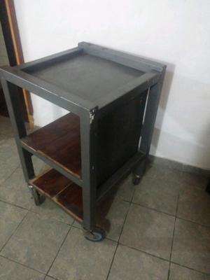 Mesa de trabajo con estantes posot class - Mesa de trabajo metalica ...