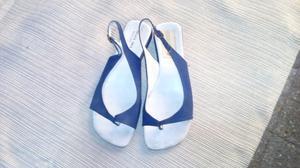 Sandalias de tela en color azul