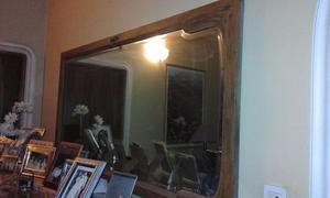 Antiguo espejo biselado con marco 0,80 x 1,65