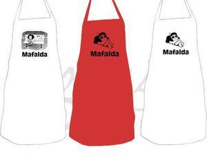 Delantal de cocina y remeras de mafalda, remeras de tango
