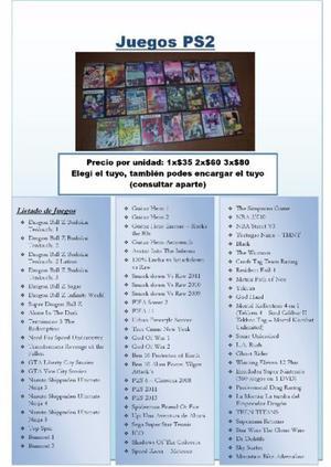 Juegos Ps2 Play 2 Playstation 2 - Elegí El Tuyo - Ofertas