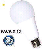 Lamparas led 10w equivale a 75w pack x 10 unidades