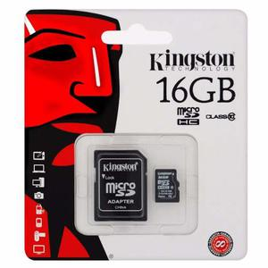 Memoria Kingston Micro Sd Hc 16gb Clase 10 Celular Cámara