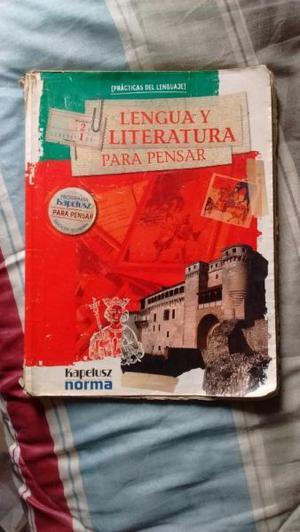 Vendo libro Lengua y Literatura Para pensar 2/1