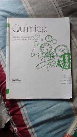 Vendo libro Química Estruct, comp y transf de la materia.