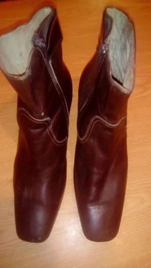 botas cuero paola marrones usadas $500