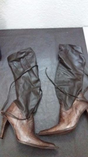 botas sarkany de cuero