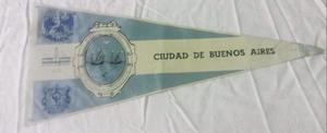 Antiguo banderín municipalidad de la ciudad de buenos aires