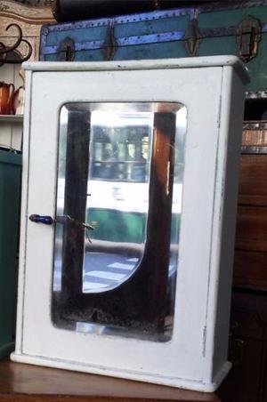 Botiquin En Pino Oregón, Espejo Biselado