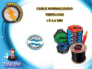 CABLE UNIPOLAR 1 X 2.5 MM TREFILCON FUERZA ELECTRICA
