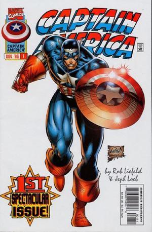 Capitain América Nº 1, By Rob Liefeld, Marvel Comics.